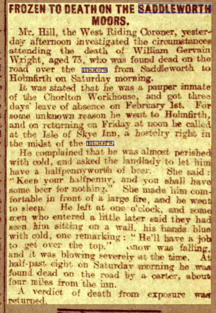 Capture-frozen-to-death-Wednesday-07-February-1906-,--Leeds-Mercury-,--West-Yorkshire,