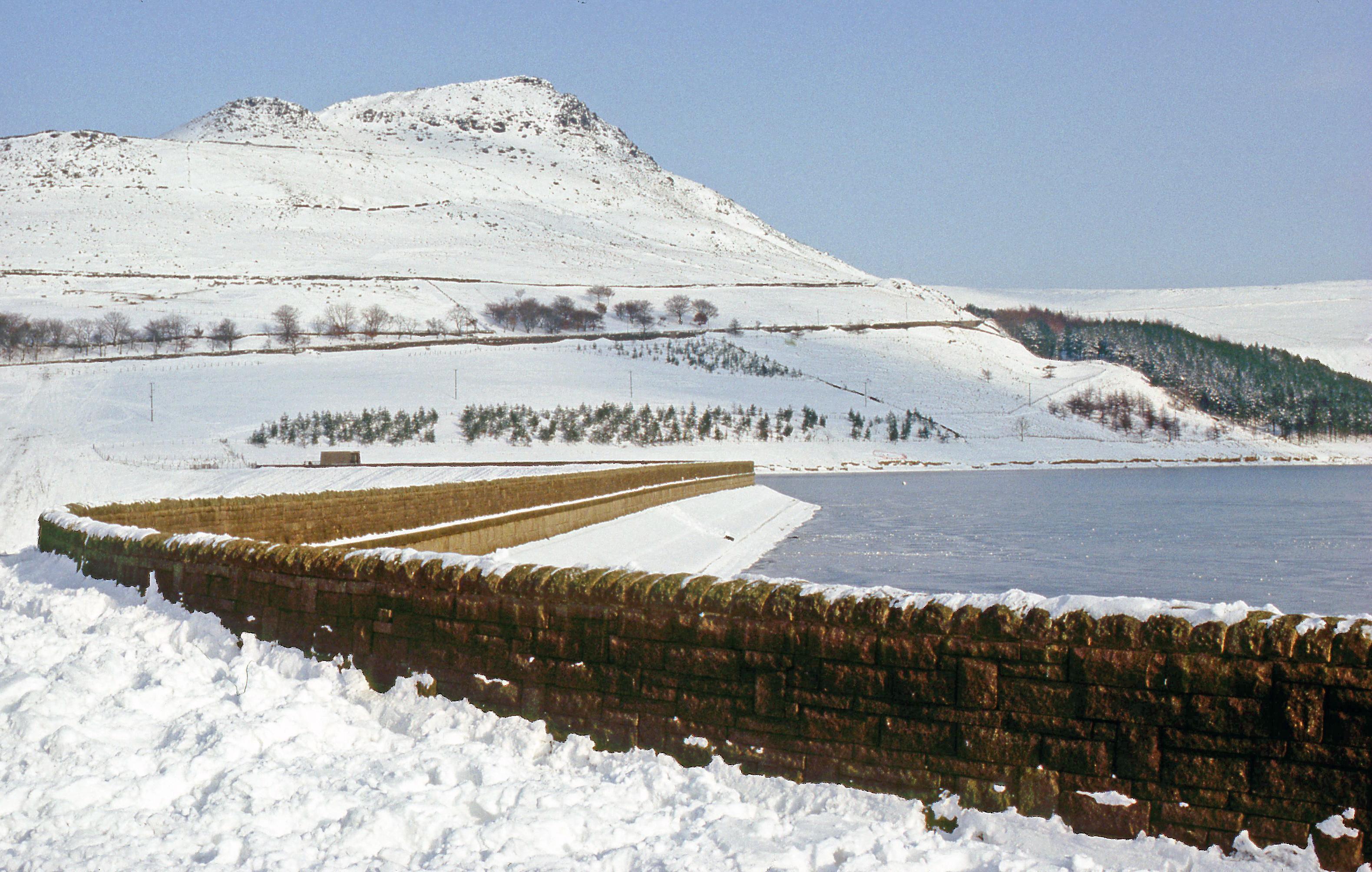Dovestone in snow