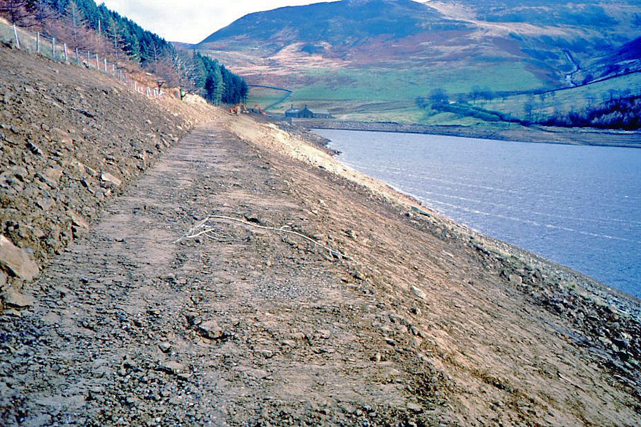 Footpath in the making November 1986
