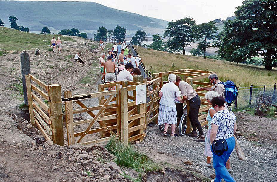 Opening disabled trail at ashawy